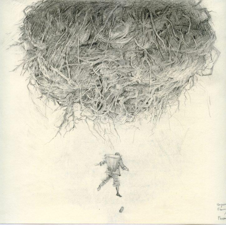 Adrian Johnston_Pencil on Paper_Rootball_01