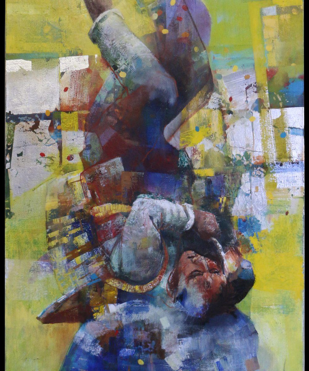 Adrian-Johnston_Upside-Down2_Oil-on-Canvas