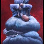 Adrian-Johnston_Upside-Down3_Oil-on-Canvas