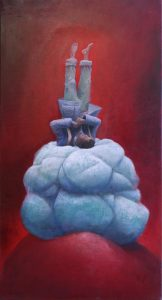 Adrian-Johnston_Upside-Down4_Oil-on-Canvas