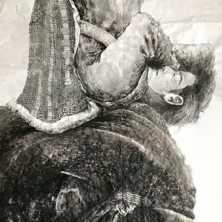 Adrian-Johnston_Upside-Down_Ink-on-Paper