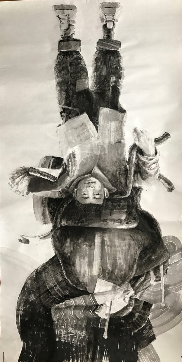 Adrian-Johnston_Upside-Down_Ink-on-Paper_Boy