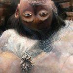 Adrian Johnston, Upside Down, Oil on Canvas, detail1